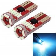 Mz 2 Pcs Dc 12v 2w 240lm 5500k T10-4014-15smd Car Width Lamp Clearance Light Parking Lights(ice Blue Light)