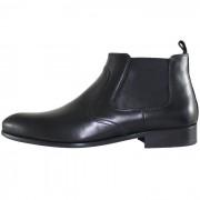 Cizme piele naturala barbati - negru, Eldemas - F5003-22-Black