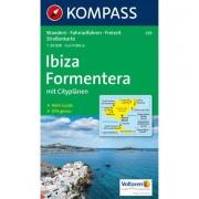 Kompass Carta N.239: Ibiza Formentera - 1:50.000