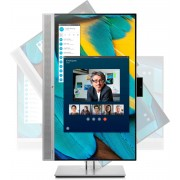 HP EliteDisplay E243m 23.8'' Full HD IPS Zwart, Zilver computer monitor