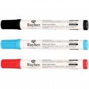 Rayher hobby materialen Voordelig pakketje met 3 textielstiften