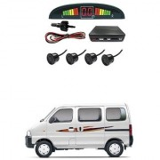 KunjZone Car Reverse Parking Sensor Black With LED Display Parking Sensor For Maruti Suzuki Eeco