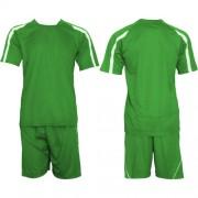 Футболен екип, фланелка с шорти зелено и бяло