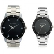 Invaders INV-LBRL-SCBLK-PAIR Brother-Sister Rakhi Combo watches