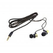 EY Cableado Trenzado Auriculares Intrauditivos Estéreo Super Bass Con Aislamiento Del Ruido-Golden