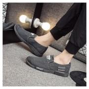 Casual Zapatos De Lona Denim Lavados E-Thinker Para Hombres -Gris