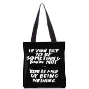 Snoogg Women's Tote Bag (Black&White) (RPC-327-ToteBag)