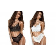 Groupon Goods Ensemble lingerie dentelle : 1 / Blanc / L