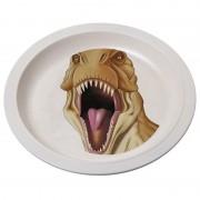 Nature Plush Planet Bamboe ontbijtbordjes dino t-rex voor kinderen 21 cm
