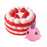 Jatidne Jumbo Squishy Cake and Whale Scented Squishies Slow Rising Kawaii Squishy Toys for Kids