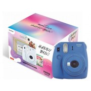 Fujifilm Kit Cámara Instantánea FUJIFILM Instax Mini 9 Happy Box (Cobalt Blue - Obturación: 1/60 s - 2 x AA)