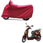 Intenzo Premium Full Red Two Wheeler Cover for Hero Electric Optima Plus