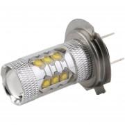 ER 1PC H7 80W LED Lámpara Antiniebla Hoofd Staart Licht Ingenio Super Brillante Luz De Vehículo Automóvil -Blanco