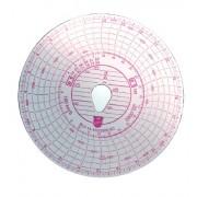 Tachográf korong 100 Km / h 1napos Actros fordulatszámmérős (BLU14)