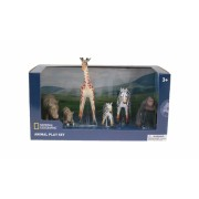 Set 6 figurine Hipopotami, Zebre, Girafa si Gorila National Geographic, 3 ani+
