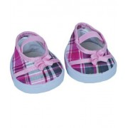 """Pink """"Plaid"""" Sandals w/Bow Teddy Bear Clothes Fits Most 14"""" - 18"""" Build-a-bear, Vermont Teddy Bears,"""