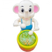 OH BABY 3D LIGHT MUSICAL POWER WITH AUTOMATIC SENSOR OPPO ELEPHANT GREEN COLOR TOYS FOR YOUR KIDS SE-ET-05
