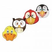 Shoppartners Kartonnen vogel maskers voor kinderen 4x