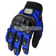 ELECTROPRIME All Season Motorcycle Riding Nylon Finger Knuckle Protective Glove Blue XL