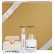Dolce & Gabbana The One coffret XI. Eau de Parfum 75 ml + Eau de Parfum 7,4 ml + leite corporal 100 ml