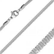 Ezüst színű nemesacél nyaklánc ékszer