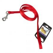 Hundkoppel av nylon, rött, 10mm x 180cm