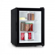 Klarstein Brooklyn 42, frigider, clasa energetică A, uși din sticlă, interior alb, negru (HEA-Brooklyn-wht)