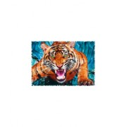 Puzzle Trefl - Crazy Shapes - Facing a tiger 600 piese dific