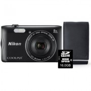 Nikon Aparat Coolpix A300 Czarny + Karta 16GB + Pokrowiec