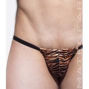 Mategear Ran Bae Adjustable Front Jock Back Xpression Mini Jock Bikini Jock Strap Underwear Tiger Print 1400802