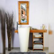 Saniteck Salle bain teck 120 cleopatra blanc