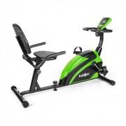 Klarfit Relaxbike 5G Bakåtlutad-ergometer Liggcykel 100 kg max grön svart