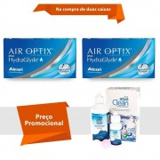 Air Optix Plus Hydraglyde com Aqua Clean