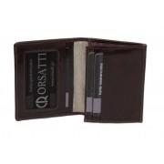 Skórzane etui na wizytówki Orsatti EW01E w kolorze ciemny brąz