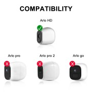 eBoot Silicone Skins for Arlo Smart Security Wire-Free Cameras, 3 Pack (White)