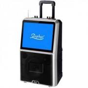 Караоке тонколона с цветен LED екран ZEPHYR ZP 9999 E, 8 инча, Активна, Bluetooth, MP3, 2 бр. безжични микрофона, 12V/4.5Ah, Черен, ZP 9999 E