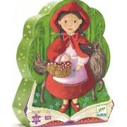 Puzzle silueta - Scufita Rosie, 36 piese