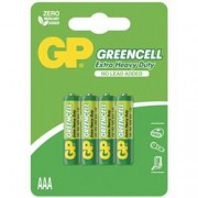Gp Batteries Blister 4 Batterie Greencell Zinco/Carbone MiniStilo AAA R03