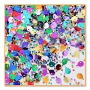 Beistle Cn130 Balloons And Stars Confetti, 1/2 Ounce
