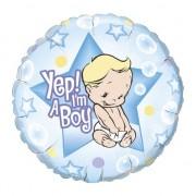 Folat Folie ballon Yep! I am a boy
