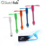 Sketchfab Silicone Mini Portable Flexible USB Fan