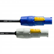 Cordial - PowerCon Patchkabel 3m PowerCon blau - grau, CFCAFCB