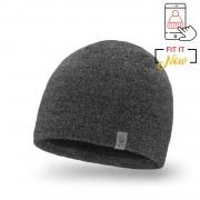 Zimowa czapka męska PaMaMi - Ciemnoszara mulina