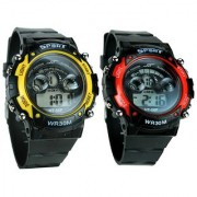 Red Pink Sports Watchs Combo Watch Pack Of 2