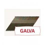 Pointes 34° crantées GALVA 3.1x75 boite de 2200 SANS gaz
