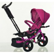 Tricicleta cu scaun reversibil Still 6-36 luni cu pozitie de somn roata plina Mov