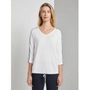 TOM TAILOR Shirt met tape detail, Dames, Whisper White, XL