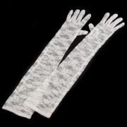 V&V Společenské rukavice 56 cm krajkové - bílá - V&V