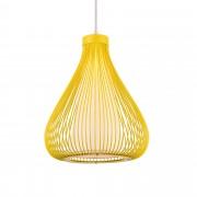 [lux.pro]® Lámpara de techo tipo colgante con pantalla decorativa metálica - colgante moderna - mostaza (E27)