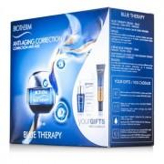 Blue Therapy Set: Cream 50ml + Cleansing Water 30ml + Serum 7ml + Serum In Oil 10ml + Body Milk 10ml 5pcs Blue Therapy Комплект: Крем 50мл + Почистваща Вода 30мл + Серум 7мл + Серум Олио 10мл + Мляко за Тяло 10мл